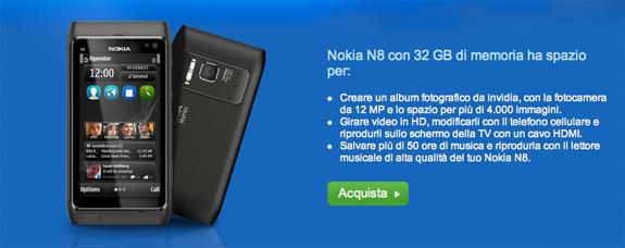 Nokia N8 con 32GB di Memoria