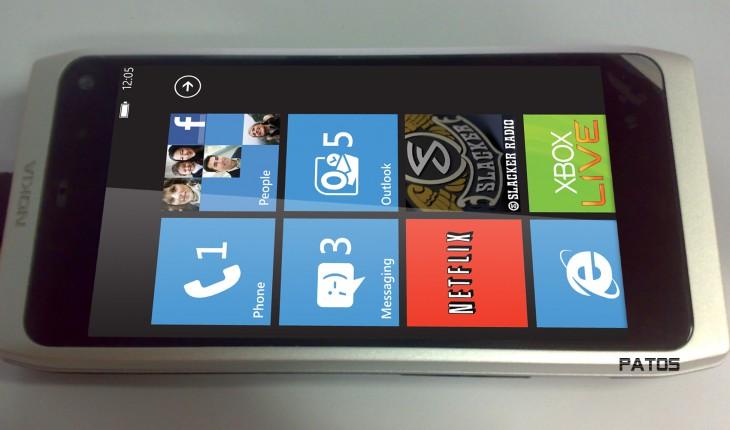 Nokia N9 con Windows Phone