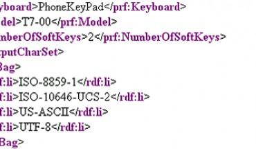 Nokia T7-00, svelato il file XML