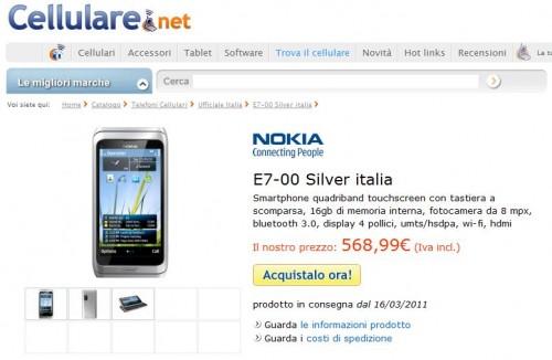 Nokia E7-00 su cellulare.net
