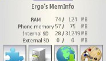 Ergo's memory info