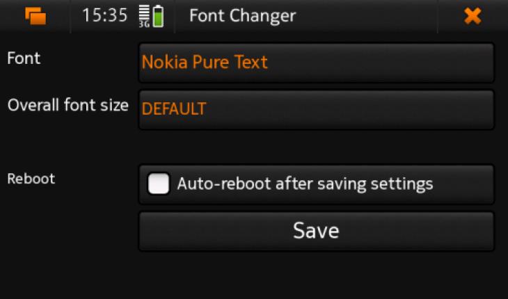 Font Changer per N900