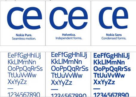 Nokia Pure font