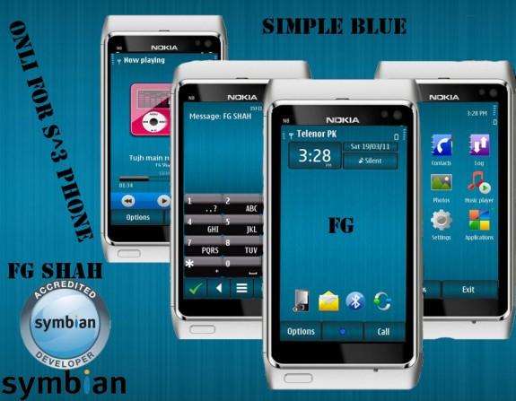 Simple Blue by FG Shah