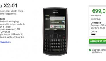 Nokia X2-01 disponibile su Nokia Online Shop