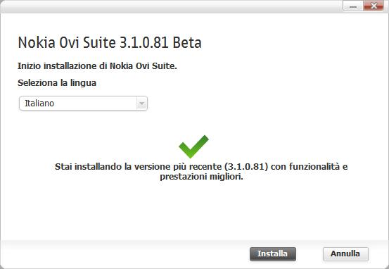 Ovi Suite Beta 3.1.0.81