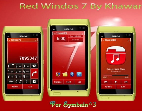 Red Windows 7 by Khawar
