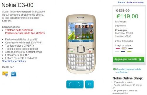 Nokia C3-00 in offerta su Nokia Online Shop