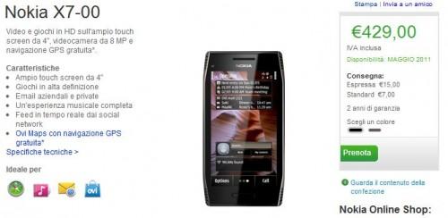 Nokia X7-00 su Nokia Online Shop