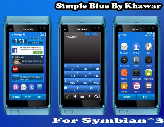 Simple Blue by Kawar Kazmi