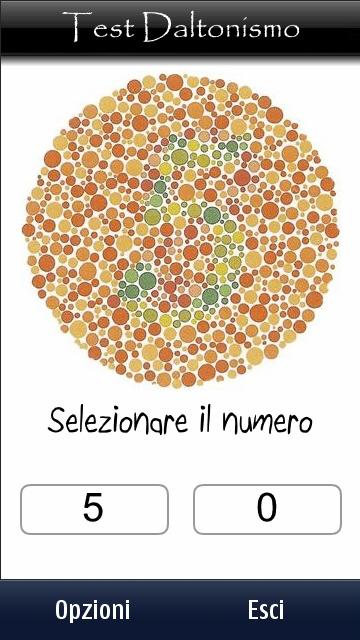 Test per il daltonismo sui symbian touch nokioteca - Tavole di ishihara test ...