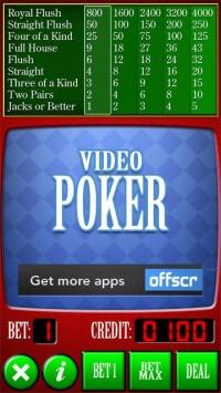 Video Poker Qt