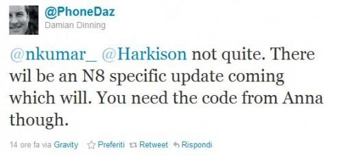 Tweet di Damian Dinning