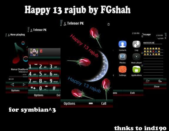 Happy 13 rajub by FG Shah