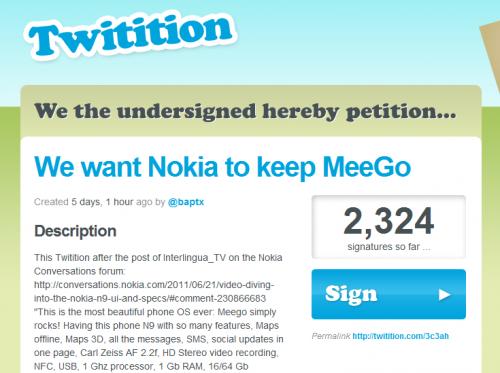 Petizione su MeeGo