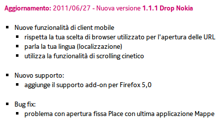 Changelog Nokia Drop 1.1.1