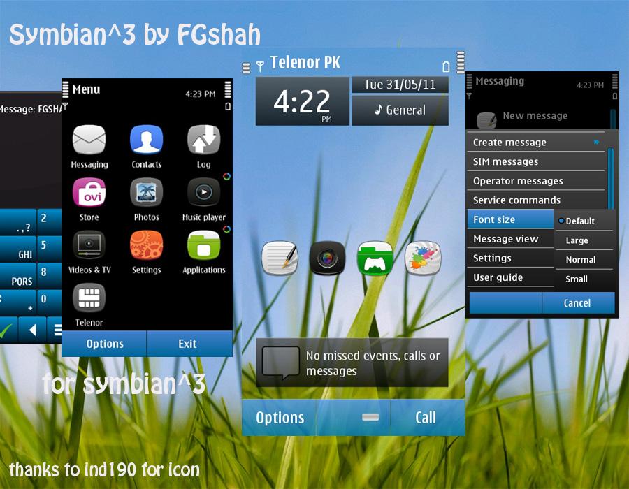 Symbian%5E3 FGshah Symbian^3 Nokia Theme For N8, C7, C6 01, E7