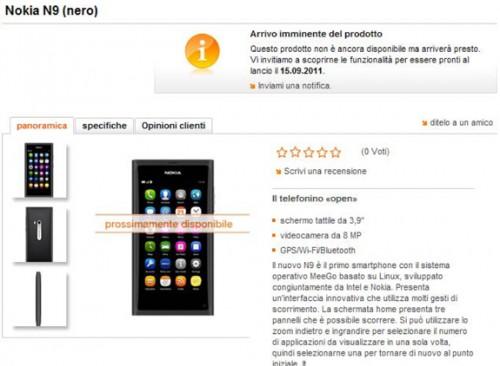 N9 Orange Svizzera