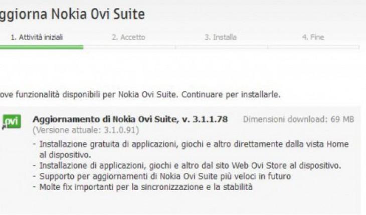 Nokia Ovi Suite update3.1.1.78