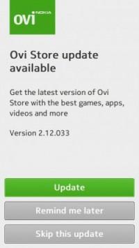 Ovi Store v2.12.033 Update