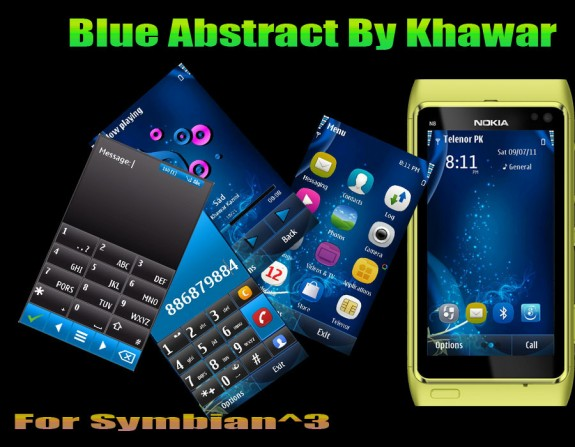 Blue Abstract By Khawar
