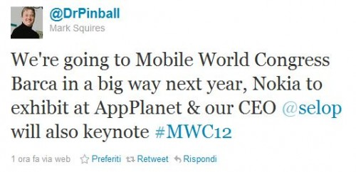 Nokia al Mobile World Congress 2012
