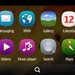 Symbian Belle flat menu