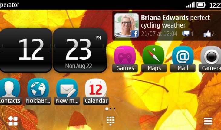 Symbian Belle landscape
