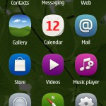 Symbian Belle menu