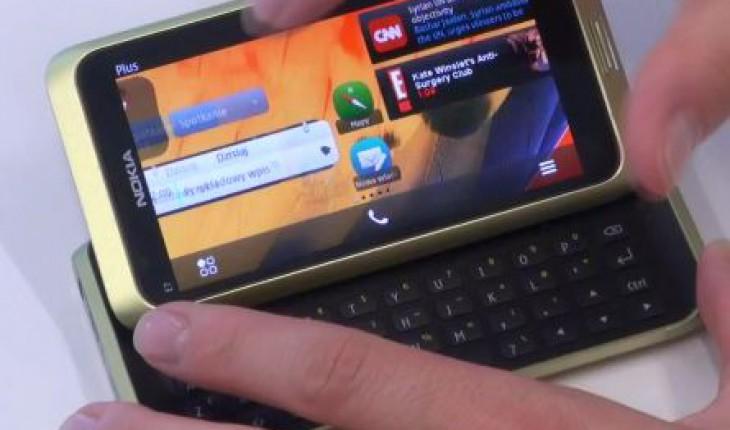 Symbian Belle su Nokia E7-00