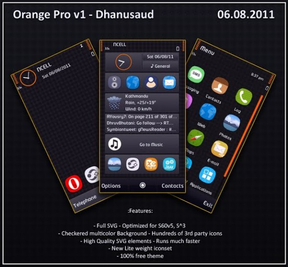 Orange Pro v1 by Dhanusaud