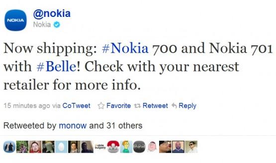 Nokia 700 e 701: partite le spedizioni