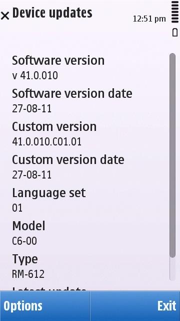 Nokia C6-00 41.0.10