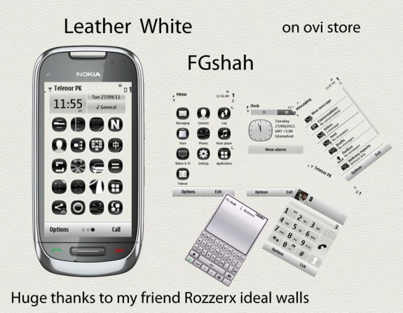 Leather white by FG Shah