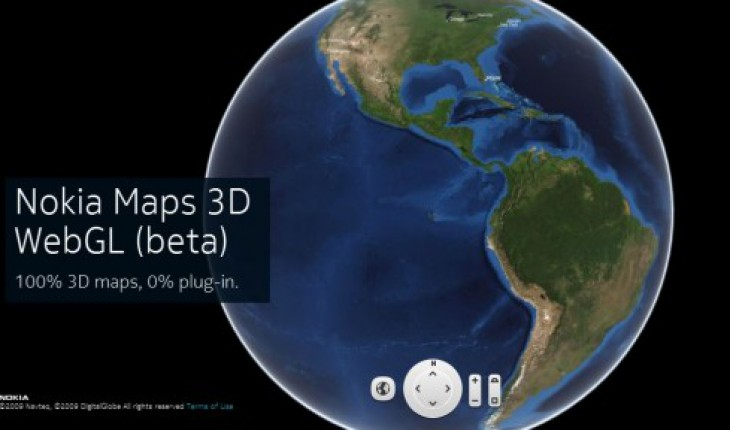 Nokia Maps 3D Web GL