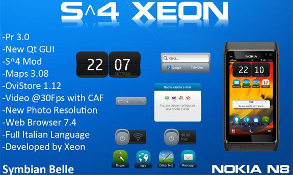 S^4 Xeon, il custom firmware per N8 basato su Symbian Belle, si aggiorna alla v1.4
