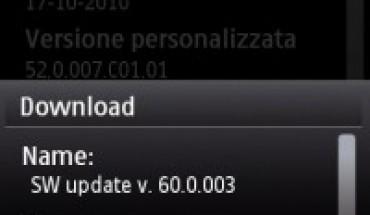 Firmware 60.0.003 per Nokia 5800