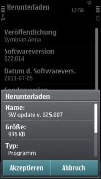Aggiornamento firmware v25.007