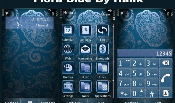 Flora blue by Hank