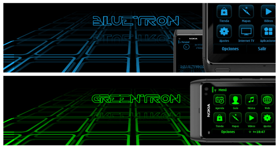 Buetron and Greentron by Flotron