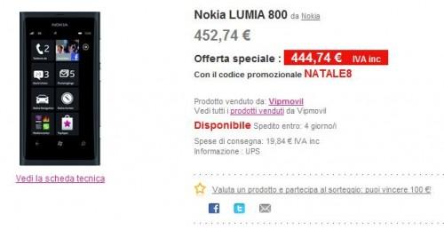 Lumia 800 in offerta su Pixmania
