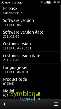 Nokia-603 fw update