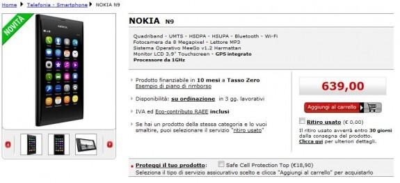 Nokia N9 su Mediaworld