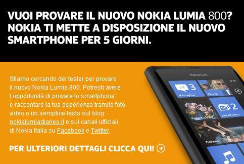 Tester Nokia Lumia 800