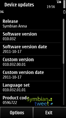 Firmware update v10.032