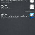 Schermata messaggi