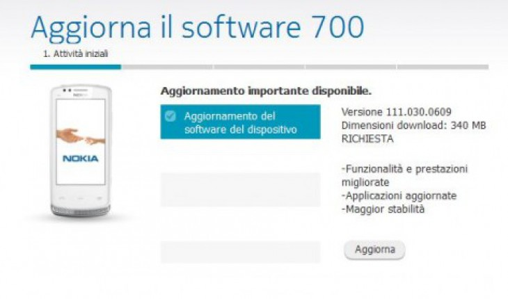 Agg. Software Nokia 700