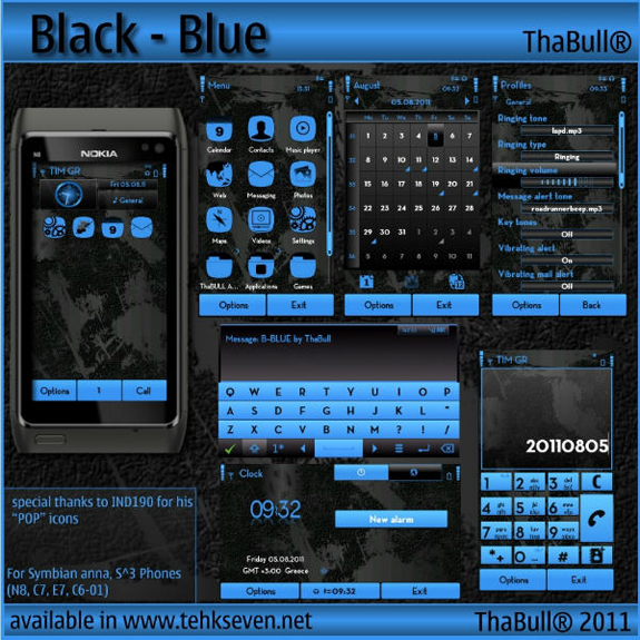 Black - Blue by ThaBull