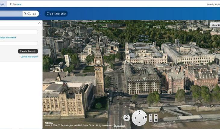 Nokia Maps 3D: la funzione itinerario