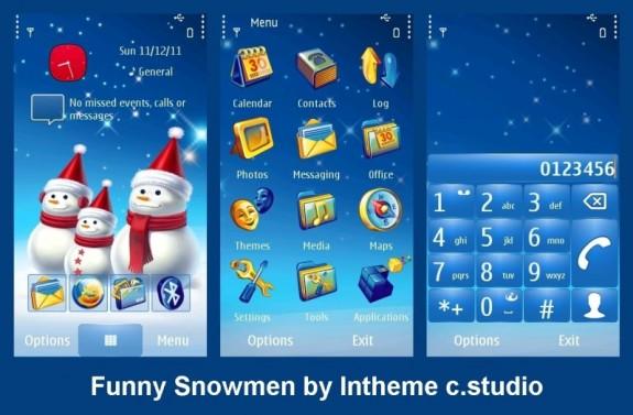 Funny snowmen by intheme c.studio